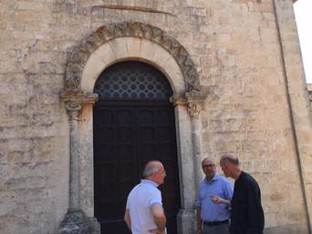 Noci: restauro del portale della chiesa della Madonna della Scala
