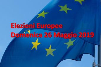 ELEZIONI EUROPEE DEL 26 MAGGIO 2019  dove, quando e come si vota