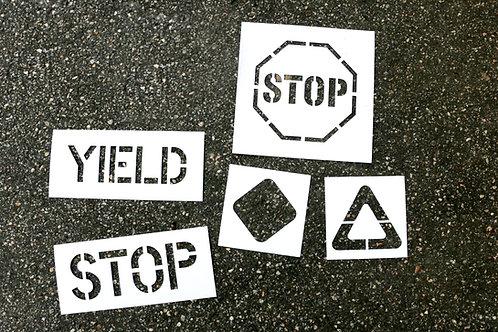 Traffic Garden Stencil Set