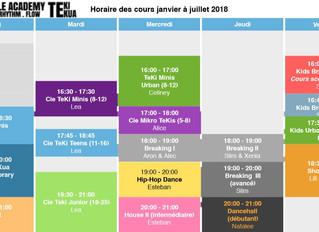 Stundenplan Januar-Juli / Horaire janvier-juillet 2018
