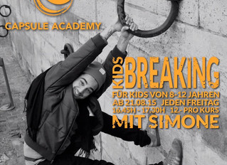 KIDS BREAKING MIT SIMONE / COURS DE BREAKING KIDS AVEC SIMONE