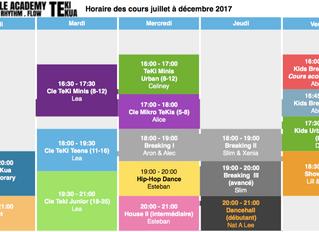 Stundenplan Q.3 & Q.4 / Horaire 3ème & 4ème trimestre