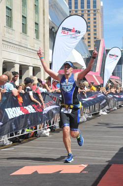 Tim at the finish