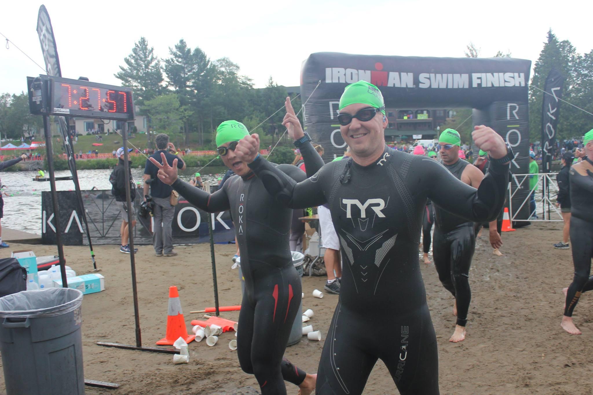 Tim at Ironman Swim