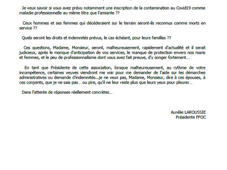 Lettre à CASTANER et PARLY - suite