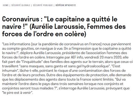 Interview d'Aurélie pour AEF - vendredi 20 mars2020