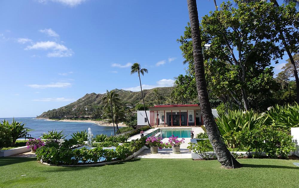 The water garden at Doris Duke's Honolulu home
