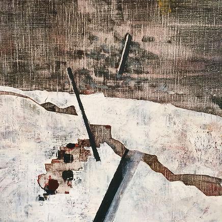 La falaise a chu / Acrylique sur toile / 81 x 65 cm