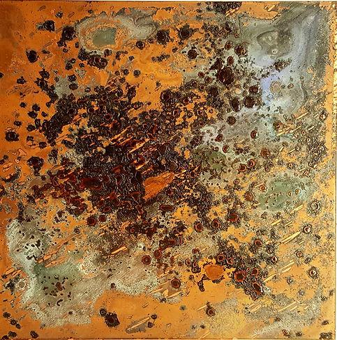 cuivre céleste galaxie voie lactée traces érosion strates vivant impermanence