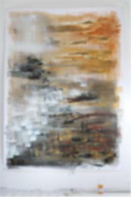 Rivage / Gouache et encre sur papier / 220 x 120 cm