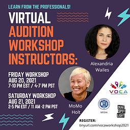 Virutal Audition Workshop Instructors