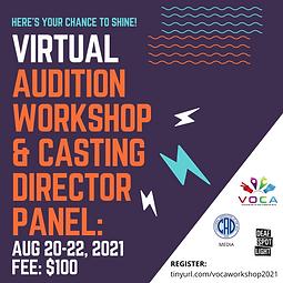 Virtual Audition Workshop & Casting Director Panel