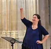 Conducting Kings College Chapel, Cambridge