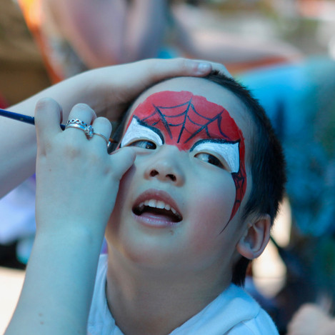 Face Painting on special occasions.