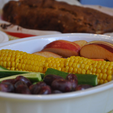 Some healthy food at a social gathering