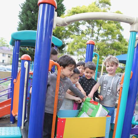 Children enjoying playing at the Apples & Honey Preschool