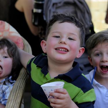 Children enjoying Apples & Honey Preschool's Open Day.