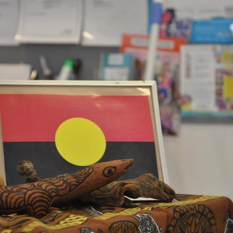 Aboriginal Flag and Artwork