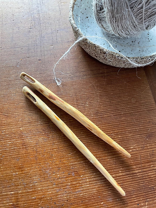 Hand carved needle- Long