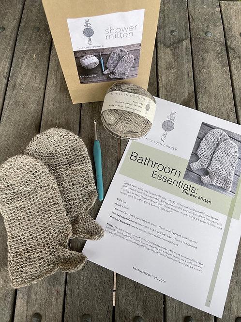 Shower mitten crochet kit