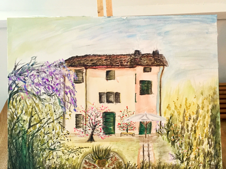 Italy, inspiration to try watercolour