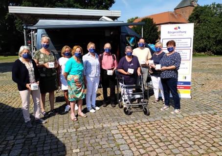 Übergabe der BÜRGERTIFTUNGSBOXEN an ehrenamtliche Helfer des Krankenhausbesuchsdienstes Winsen