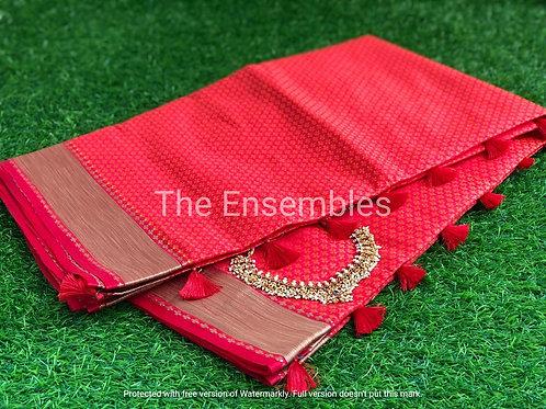 Handwoven Jacquard Banarasi silk saree