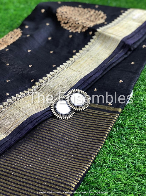 Handwoven Raw silk saree