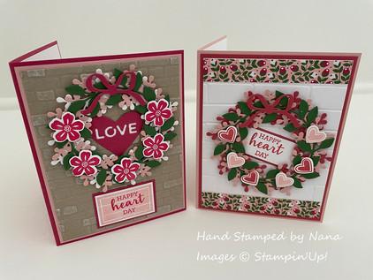 Arrange A Wreath Valentine's day card