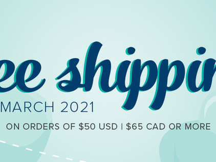 Free Shipping Mar 17th