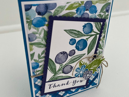 Berry Blessings Thank You Card