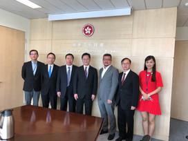 與新任創新及科技局薛永恒局長, JP會面
