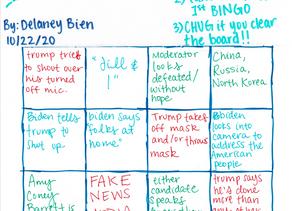 Presidential Debate 2 BINGO