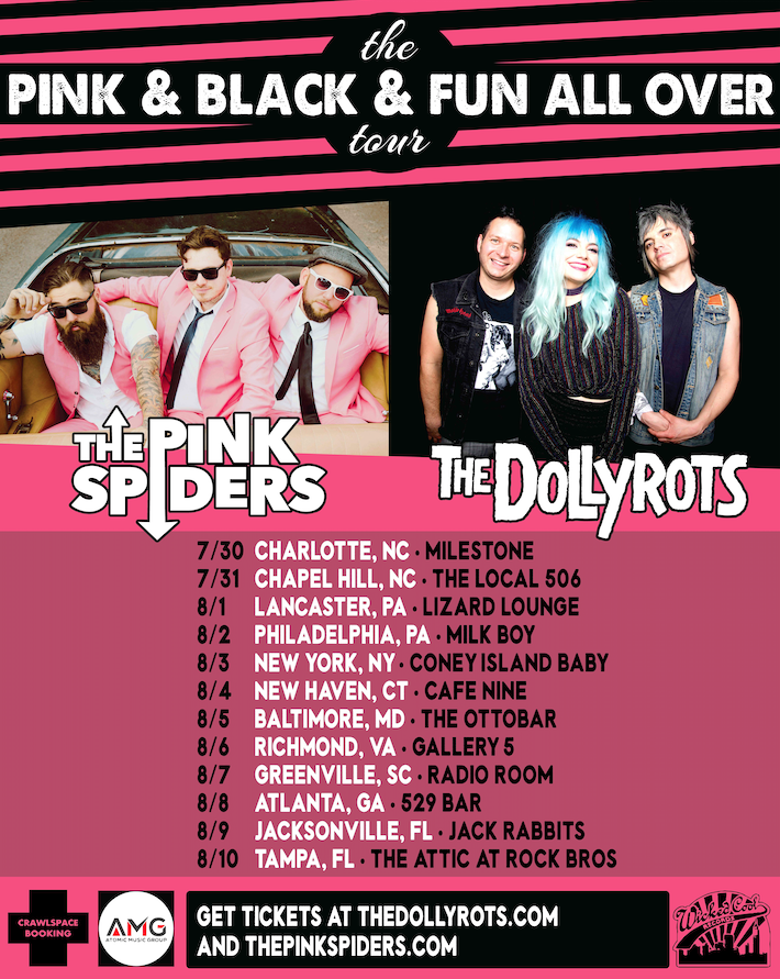 dollyrots pink spiders tour