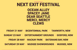 NEXT EXIT FESTIVAL ANNOUNCES HUGE LINE-UP FOR INAUGURAL EVENT