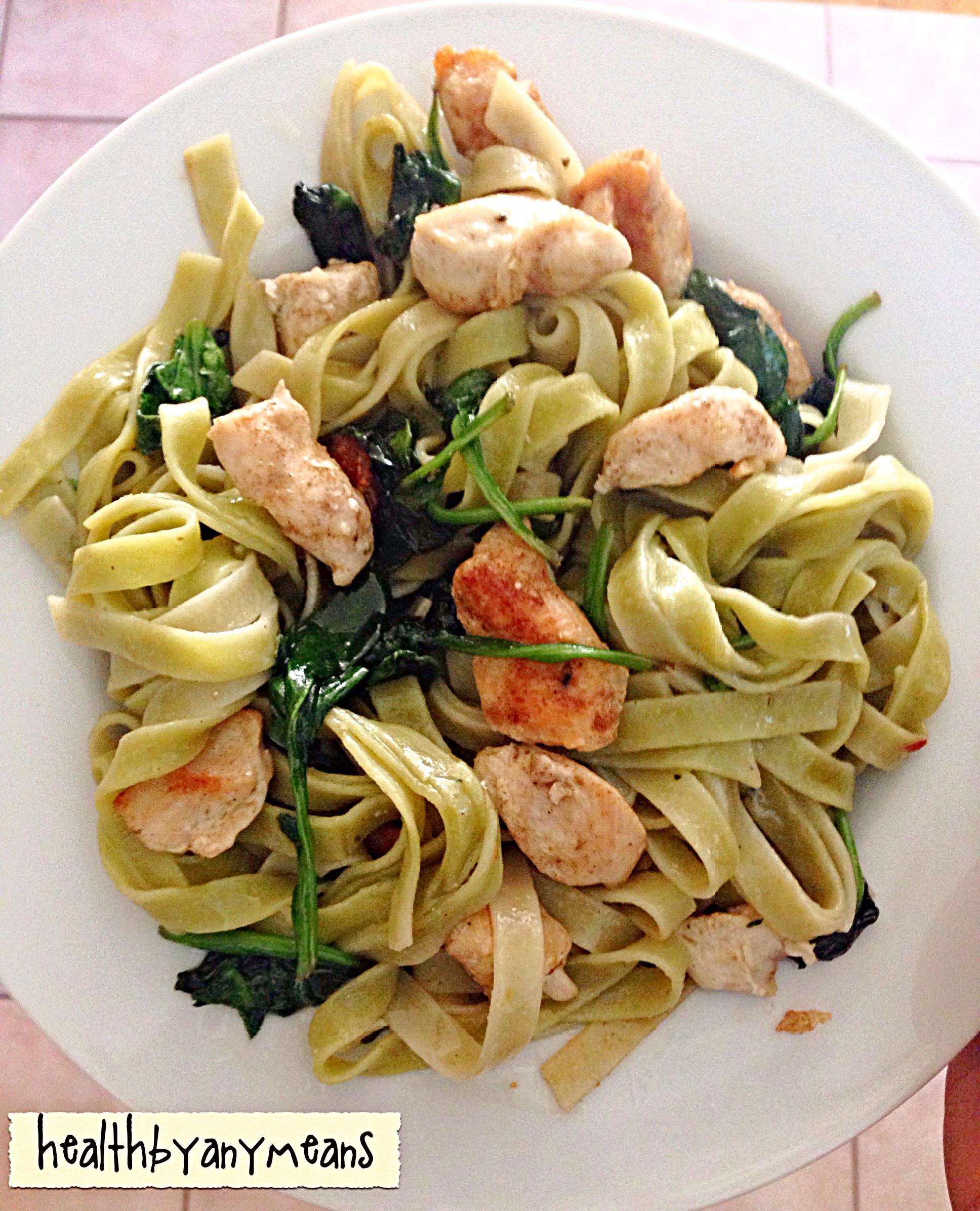 Tagliatelle Spinach