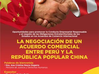 La Negociación de un acuerdo comercial entre Perú Y la República Popular China