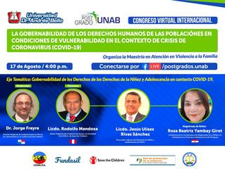 """CONGRESO VIRTUAL INTERNACIONAL: """"LA GOBERNABILIDAD DE LOS DERECHOS HUMANOS DE LAS POBLACIÓNES E"""
