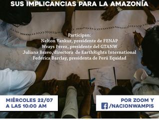 Conferencia de prensa: El retiro de Geopark del Lote 64 y sus implicaciones para la Amazonía