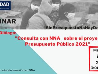 Primer diálogo: consulta con NNA sobre el proyecto del presupuesto público 2021