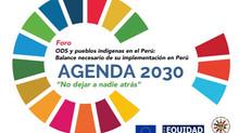 ONAMIAP y Equidad Perú organizan el foro ODS y Pueblos Indígenas