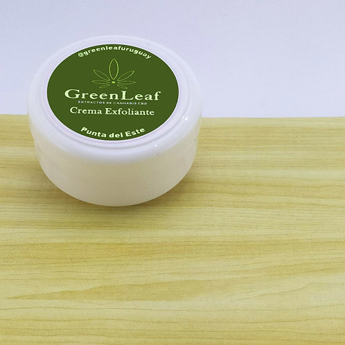 Crema exfoliante CBD rostro cannabis