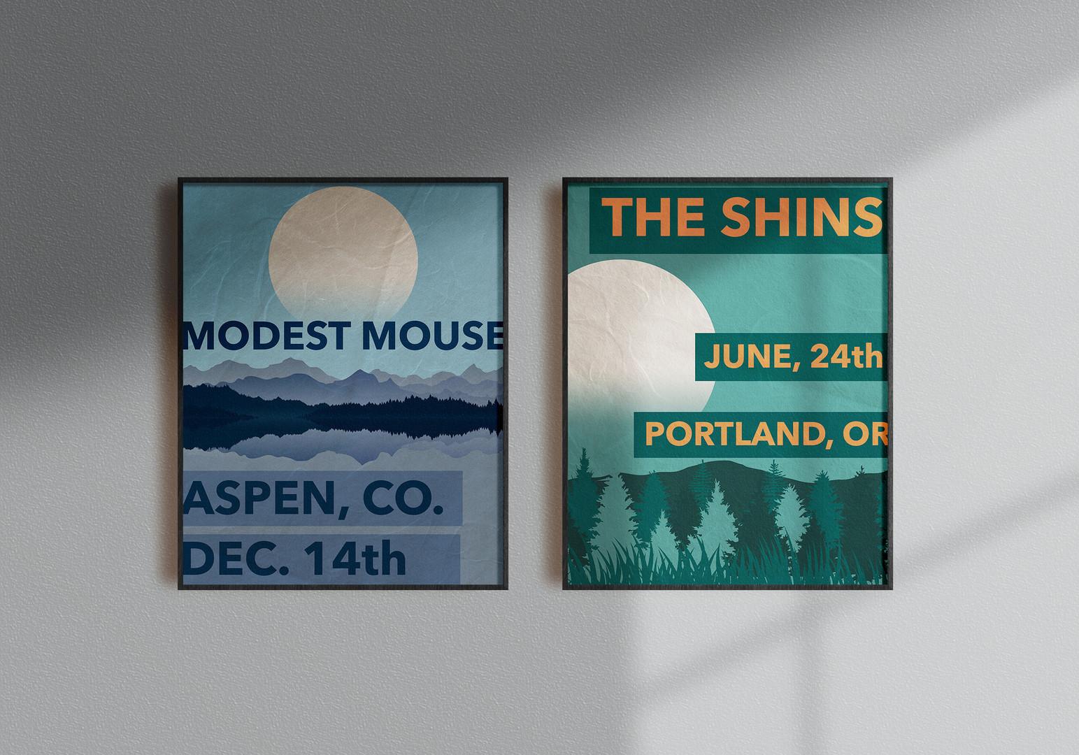 """Moon Series"" Concert Poster Mockup"