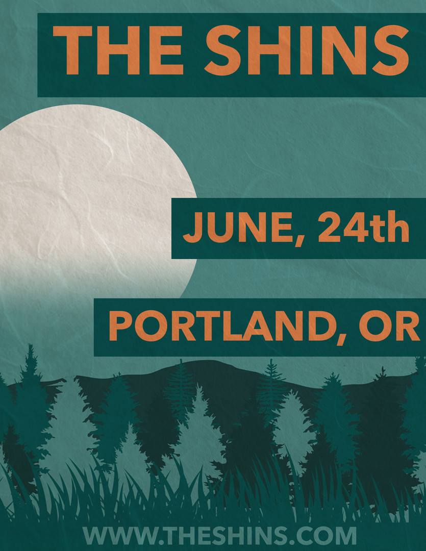 "The Shins ""Moon Series"" Poster"