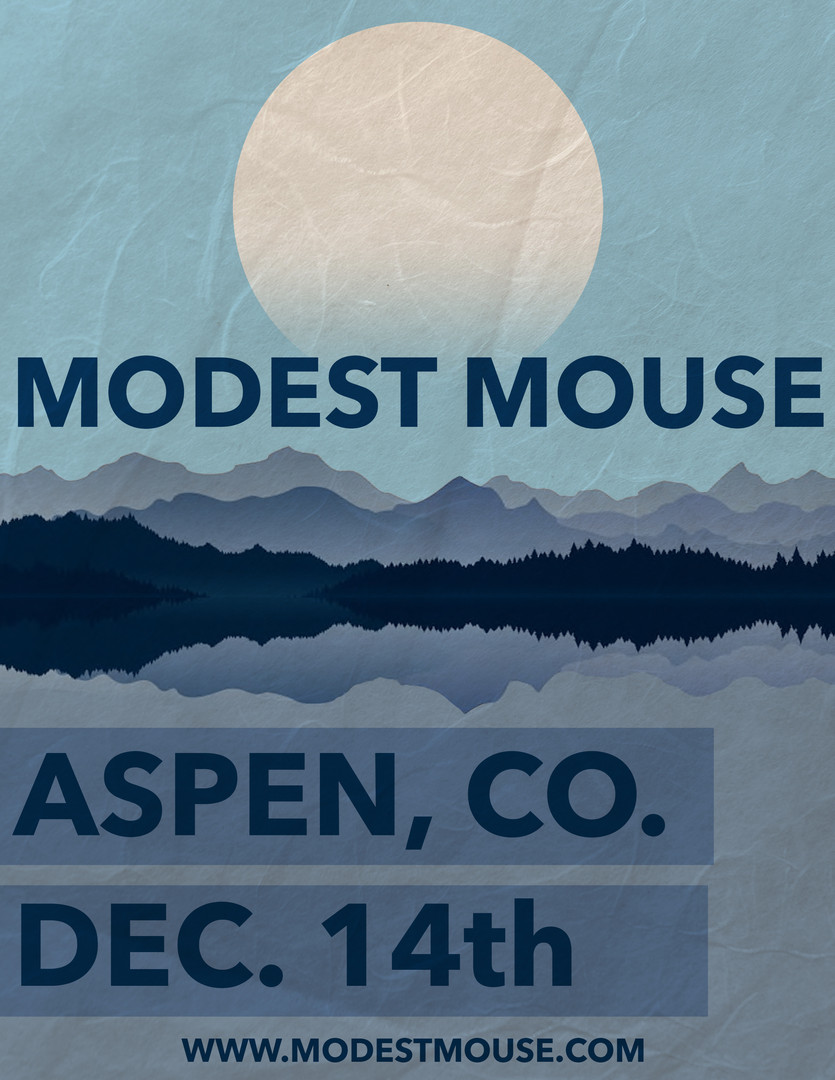 "Modest Mouse ""Moon Series"" Poster"