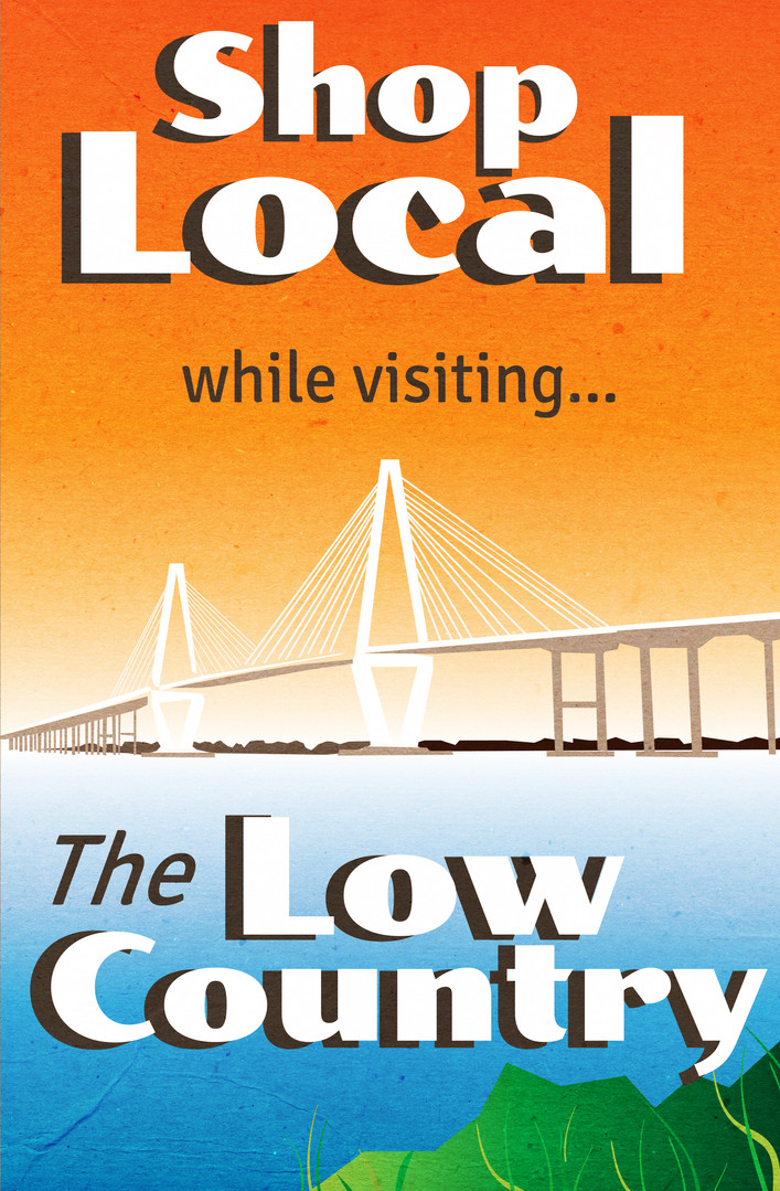 """Shop Local"" in Charleston, SC Poster"