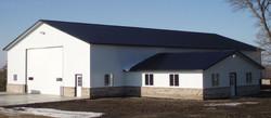 Quality post frame metal building