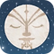 App badge with digital picture of the moon. The moon has Maaori facial designs