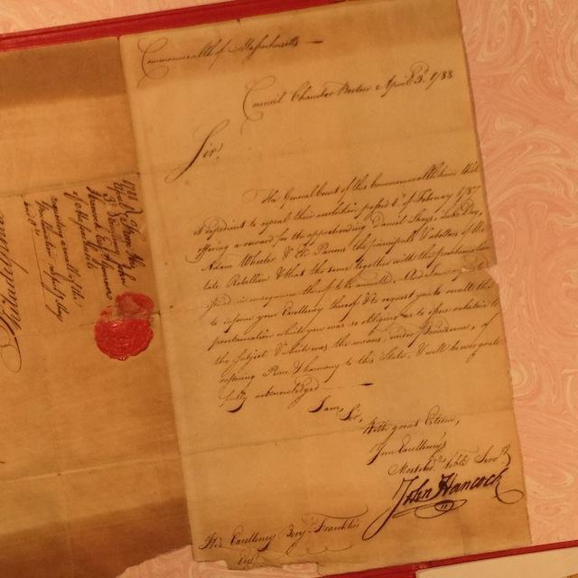 Letter from John Hancock
