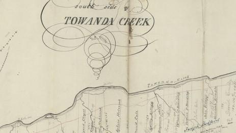 Land on the South side of the Towanda Creek